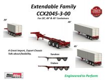 Max Atlas Extendable Container Chassis