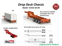Max Atlas Drop Frame Container Chassis